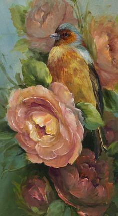 Jansen Art Online Store - P5014D- Chaffinch and Rose- DOWNLOAD, $7.95 (http://www.jansenartstore.com/p5014d-chaffinch-and-rose-download/)