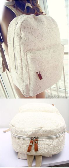 Cheap Fashion Sweet Floral Lace Backpack For Big Sale!Fashion Sweet Floral Lace Backpack is suitable for many informal occasion. Its floral lace design is very popular among the young. Cute Backpacks, Girl Backpacks, School Backpacks, Colorful Backpacks, Leather Backpacks, Leather Bags, Pu Leather, Cheap Fashion, Fashion Bags