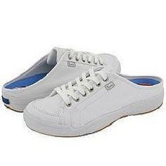 keds white leather mules