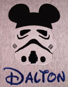 Storm Trooper w/ Mickey Ears Star Wars Disney Custom  Personalized T-Shirt  -  Youth X- Small - Adult X-Large ( extended sizes available). $25.00, via Etsy.