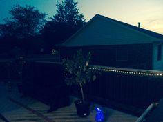 Lighted solar back deck