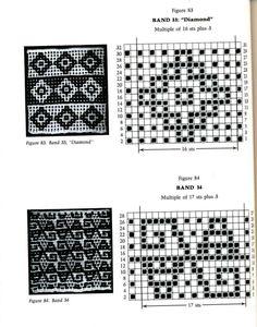 Mosaic Knitting Barbara G. Walker (Lenivii gakkard) #117