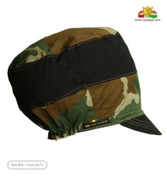 ARMY BLOCK Casquette pour dreadlocks Noir   Camouflage par HATaFAYA Custom  Hats 3ffb0b63e62