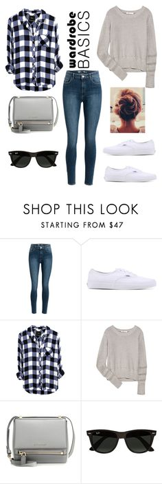"""Untitled #16"" by beatrizfgarbelini ❤ liked on Polyvore featuring Vans, T By Alexander Wang, Givenchy and Ray-Ban"