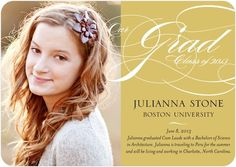 Graduation Announcements Our Grad - Front : Dijon