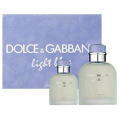 Light Blue by Dolce & Gabbana for Men 2 Piece Set Includes: 4.2 oz Eau de Toilette Spray + 1.3 oz Eau de Toilette Spray