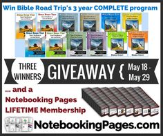 Notebooking Pages LIFETIME Memberships & Bible Road Trip Giveaway