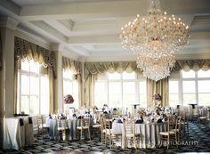 Reception at Trump National Golf Club wedding. Photographs by Jordan Brian Photography.                                                                                                                                                                                 More