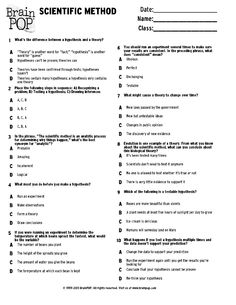 Printables Science And The Scientific Method Worksheet Answer Key kid worksheets and scientific method on pinterest brainpop quiz scribd