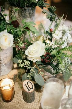 Featured Photo: Emily Wren Photography; Rustic Pennsylvania Wedding at Grace Winery - rustic wedding table number idea