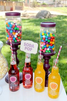 Carnival inspired candy display {Photo by Iliana Morton Photography}