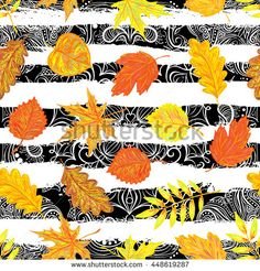 Seamless pattern with colorful autumn leaves vector background. Perfect for wallpapers, pattern fills, web page backgrounds, surface textures, textile