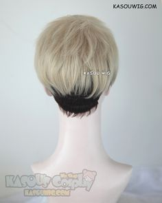 [Kasou Wig] Yuri !!! on Ice Christophe Giacometti short blonde brown ombre spiky cosplay wig