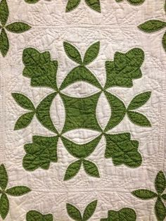 Emily's Oak Leef & Reel, 1854 - Emily Webb of Monroe, New York made this quilt just prior to her marriage to David Fosdick.