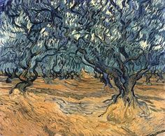 Vincent van Gogh Painting, Oil on Canvas Saint-Rémy: September, 1889 Private collection F: JH: 1791 Image Only - Van Gogh: Olive Trees Vincent Van Gogh, Van Gogh Art, Art Van, Rembrandt, Van Gogh Olive Trees, Van Gogh Paintings, Tree Paintings, Dutch Painters, Post Impressionism