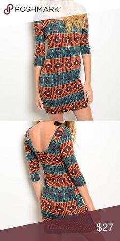 Selling this 🌹 Brown Rust Teal Dress on Poshmark! My username is: pari09. #shopmycloset #poshmark #fashion #shopping #style #forsale #Dresses & Skirts