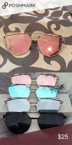 """Downsizing closet. BRAND NEW! Rose Gold """"Cali"""" sunnies from Glow Glam! Never worn, only taken out of package to try on. Accessories Sunglasses"""