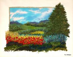 Embroidery by Gilda Baron - interesting idea to combine landscape quilting and embroidery