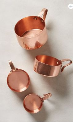 copper measuring cups a kitchen classic