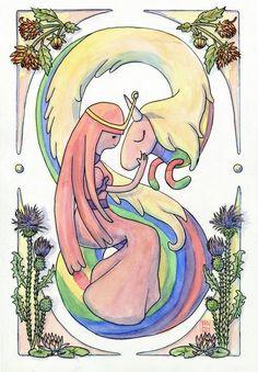 ♡ La dulce princesa y arco iris