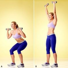 Squat to Overhead Press: Do this tone-up-all-over strength workout 2–3 times per week, leaving at least a day's rest in between. | Health.com