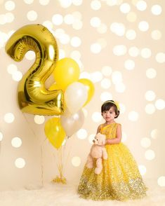 Client diaries 😍 Vrindha sparkling in our yellow gown happy 1st birthday baby doll u look absolutely stunning!!…