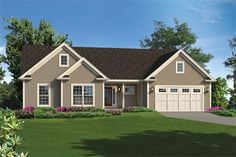 Front elevation of Country home (ThePlanCollection: House Plan #138-1350)