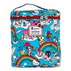tokidoki for hello sanrio by Ju-Ju-Be Fuel Cell Insulated Lunch Bag: Rainbow Dreams Hello Kitty Bag, Hello Kitty Collection, Diaper Bag Backpack, Diaper Bags, Insulated Lunch Bags, Bottle Bag, Cute Plush, Sanrio Hello Kitty