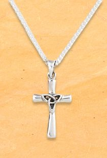 2.36 in x 1.14 in Sterling Silver Antiqued Celtic Cross Pendant