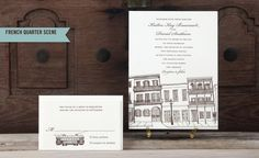 Scriptura - Letterpress Wedding Invitations with a New Orleans Flair  rehearsal dinner