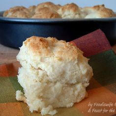Cat Head Biscuits:  Very southern. When I was in Grand Junction, CO, this winter,  we stopped in at Starvin' Arvin's and had them with green chili and eggs.  Oh, my!              They were like the ones we were forced to eat when we were kids, lol  Cuz, they were yummy.
