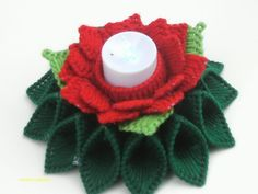 rose candle holder centerpiece with flameless candle handmade plastic canvas