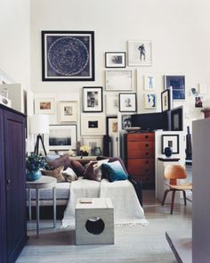thomas o'brien's sleeping/ sitting area (his studio)