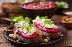 Beetroot and blue cheese always sit well together so the blue cheese crostini is a perfect match!   #beetroot #cheese #bluecheese #crostini #bread #snack #sandwich Blue Cheese, Beetroot, Perfect Match, Salmon Burgers, Avocado Toast, Hummus, Food Ideas, Sandwiches, Bread