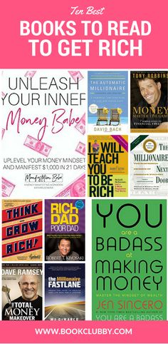 Inspiring books for instant money mindset improvement. Awaken your inner girl boss with these finance books worth reading that will make you sit up and pay attention to your money like the badass you know you really are. Best Books To Read, I Love Books, Good Books, My Books, How To Get Rich, How To Get Money, Earn Money, Finance Books, Romance