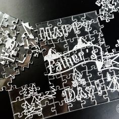 Personalized difficult acrylic Clear jigsaw puzzle™ set. Perfect gift for Fathers Day! Every piece has a unique shape. Engraved and cut from high-quality clear acrylic. Different sizes and difficulty options available!    #fathersday #darinascrafts #fathersdaygift #puzzle #jigsawpuzzle #impossiblepuzzle #clearpuzzle #puzzles