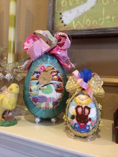MCM needlepoint- stitched in 2013, Easter eggs