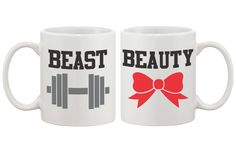 These his-and-hers coffee mugs will be a perfect wedding gift for newlywed couples. This simple, yet elegant set will add a romantic touch to their new home. Best Gift Ideas for Holiday, Christmas, Va