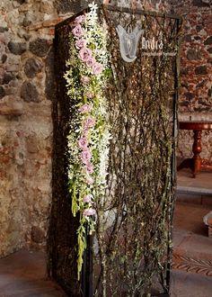 Mampara floral con rosas.