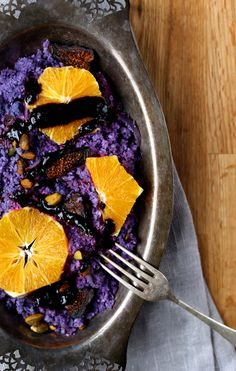 Cauliflower Couscous with Black Garlic Dressing - Earthy Feast
