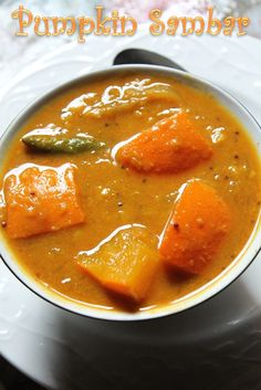 I have recently started liking pumpkin a lot. So whenever we go to our veg shop, i somehow manage to find a small cute pumpkin. Healthy Indian Recipes, Veg Recipes, Vegetarian Recipes, Cooking Recipes, Vegetarian Cooking, Asian Recipes, Sambhar Recipe