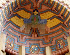 Pewabic Pottery was founded in 1903 by Mary Chase Perry and Horace J. Caulkins, at the peak of the American Arts & Crafts movement . Detroit Art, Detroit History, Metro Detroit, Flint Michigan, Detroit Michigan, Pewabic Pottery, Art Deco Buildings, Going On Holiday, Tile Installation