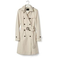 Classic Trench ($228) via Polyvore featuring outerwear, coats, pink trench coat, banana republic coat, trench coat, banana republic and pink coat