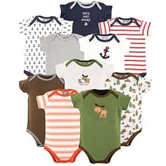 Luvable Friends Baby Boy and Girl 10 Pack Bodysuits Boy Nautical  Moose 36 Months * Be sure to check out this awesome product.Note:It is affiliate link to Amazon.