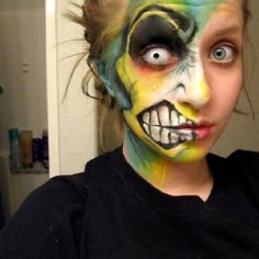 Great face painting for Halloween!