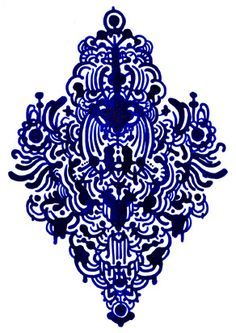 Blue pattern by Nick White  #doodle