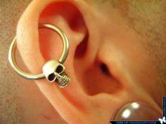 skull upper earring
