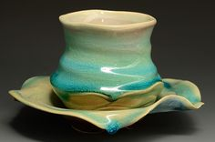 Tea Bowl and Saucer by Catherine Rehbein.