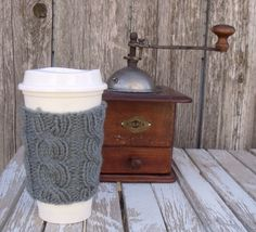 A personal favorite from my Etsy shop https://www.etsy.com/listing/162199814/coffee-sleeve-cable-knit-coffee-cup-cozy