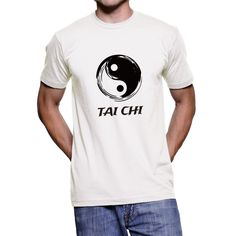 Tai Chi, Yin and Yang, Chinese calligraphy of Tai Chi  Unisex T-Shirt by SignCharacter on Etsy